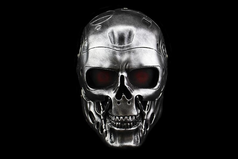 新品 仮面 コスプレ マスク ハロウィンCOSPLAY用品 仮装パーティ 変装 halloween The Terminatorターミネーター グレー_画像2