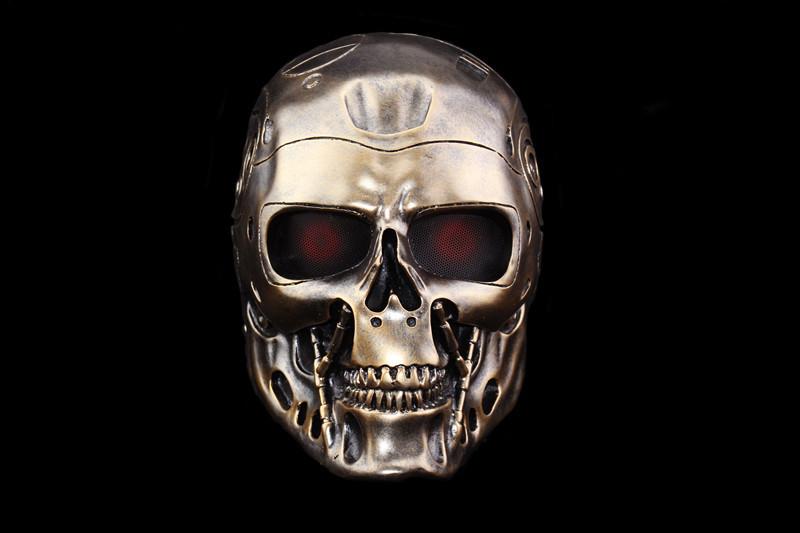 新品 仮面 コスプレ マスク ハロウィンCOSPLAY用品 仮装パーティ 変装 halloween The Terminatorターミネーター ゴールド