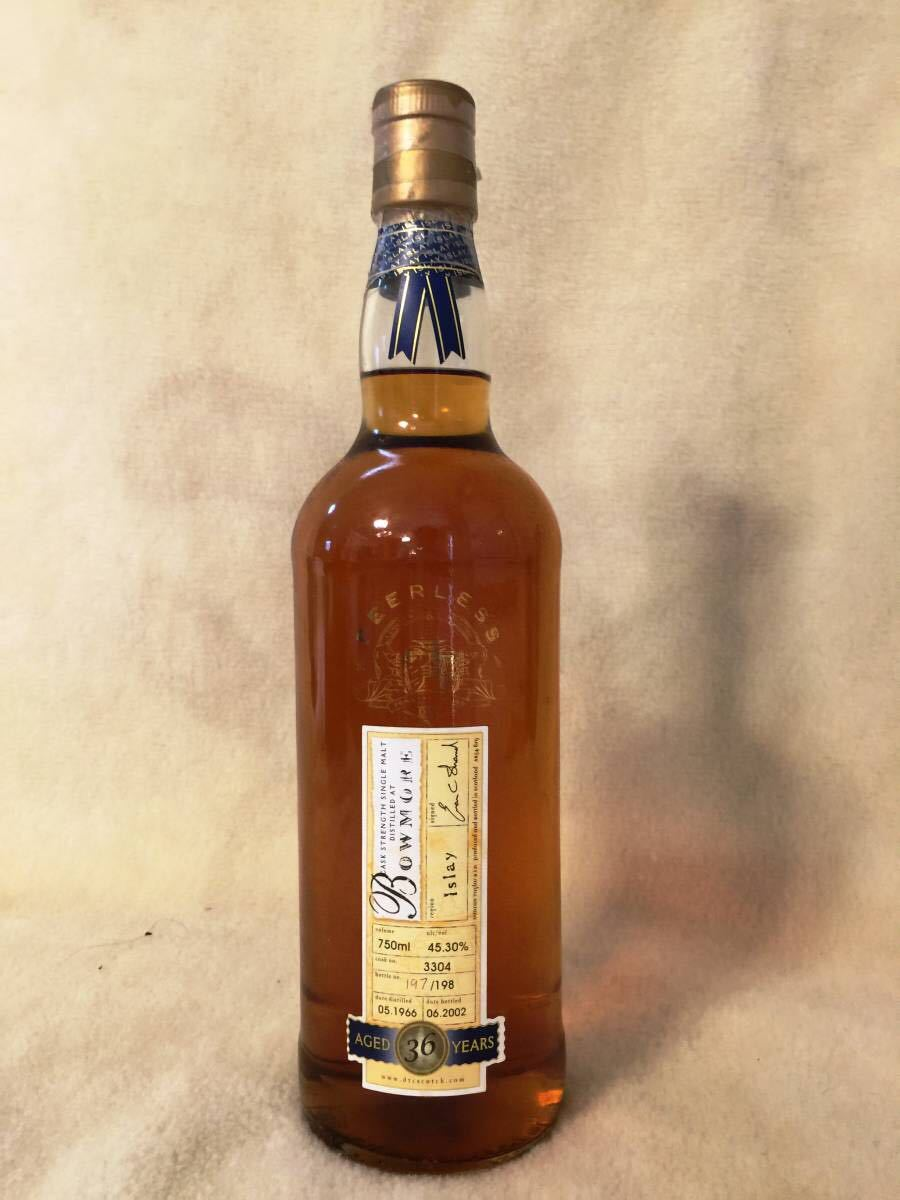 Bowmore 1966 - 2002 36y.o. DUNCAN TAYLOR PEERLESS COLLECTION 45.3% 750ml Cask No.3304 Bottle No.197/198