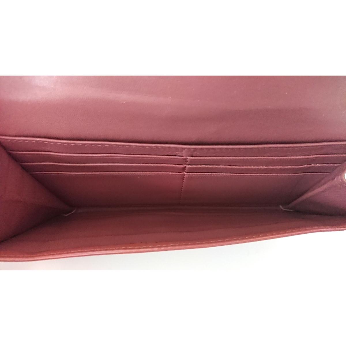 美品 MIUMIU がま口 エナメル レザー 長財布 パテント ピンク ウォレット PRADA プラダ ミュウミュウ イタリア製 定価7万4千円_画像8