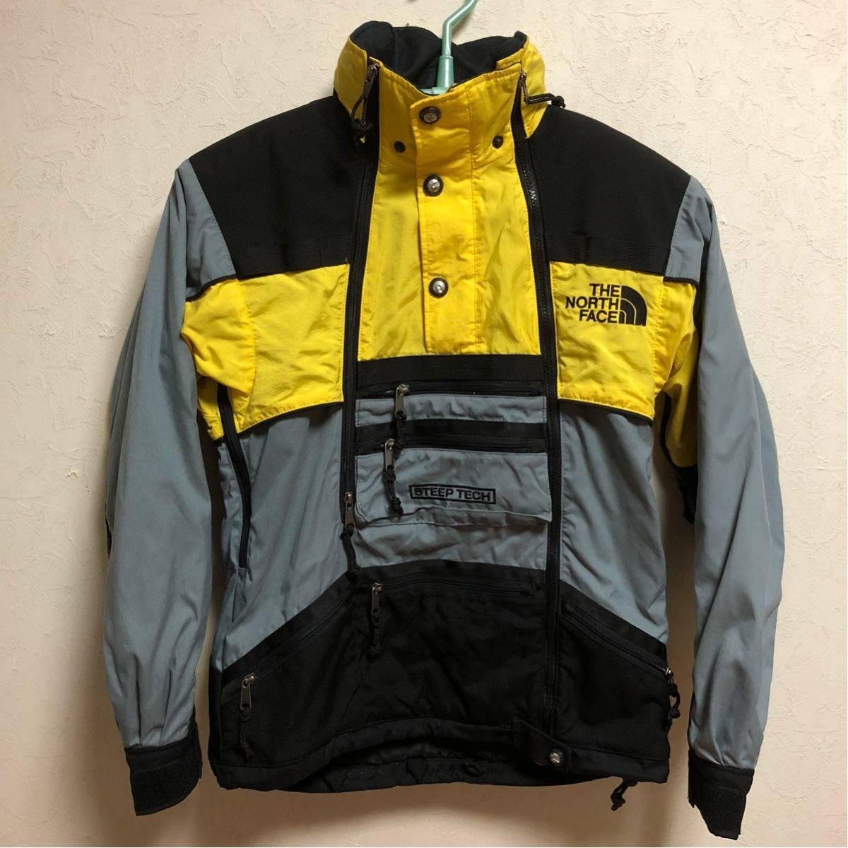 超激レア The North Face mountain steep tech jacket スティープテック ジャケット グリーン 1992 stadium p wing cap snow beach sport