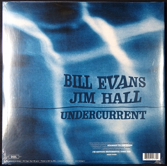 新品LP HQ 180g盤 1LP【Bill Evans Jim hall/Undercurrent】★ボーナス2曲 EU盤 見開きジャケ★史上最も美しいピアノとギターによるデュオ!_画像2