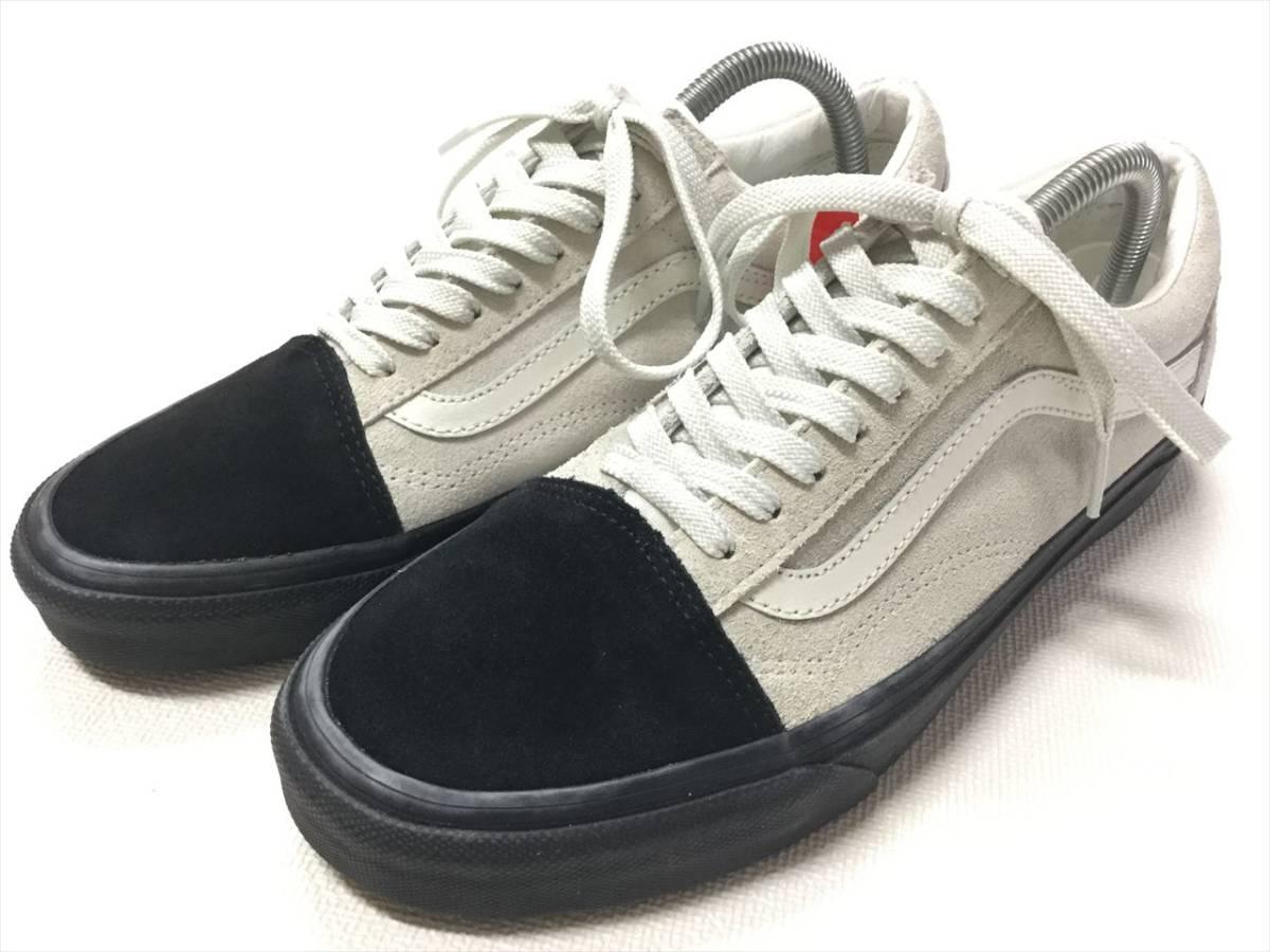 VANS OLDSKOOL white x black suede black sole US8 Vans Old