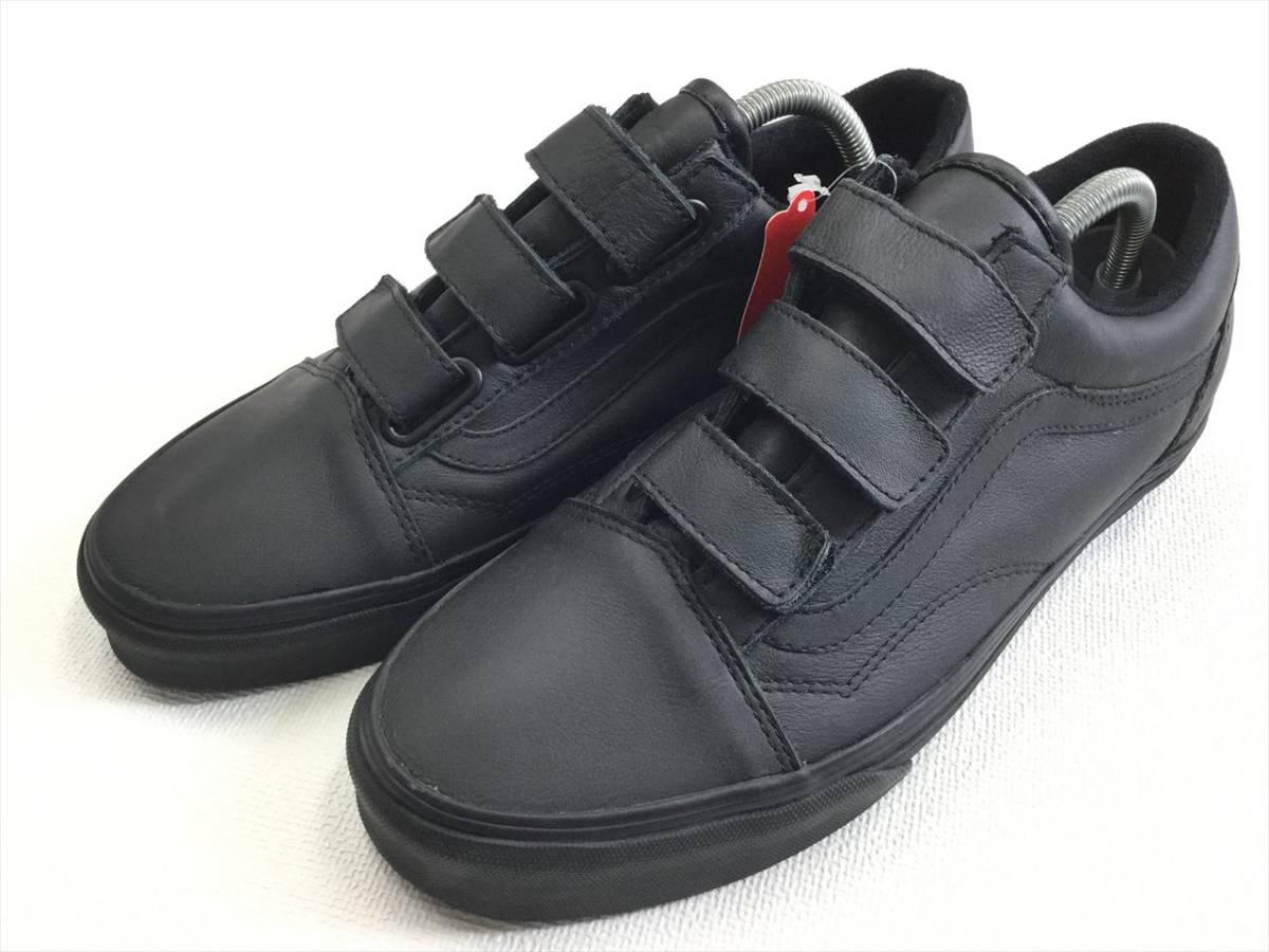 VANS OLDSKOOL VELT black leather US7