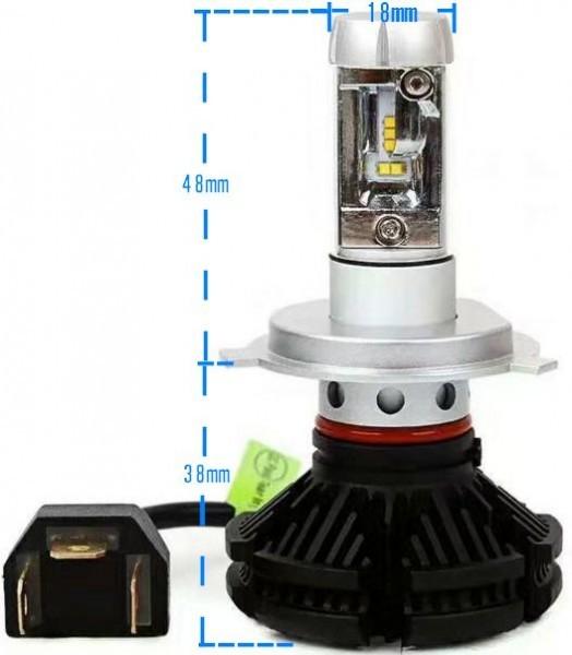 PHILIPS LED チップ スカイウェイブ650 400 250 12000lm Hi Lo H4 ヘッドライト 3000K 6500K 8000K 新基準車検対応_寸法