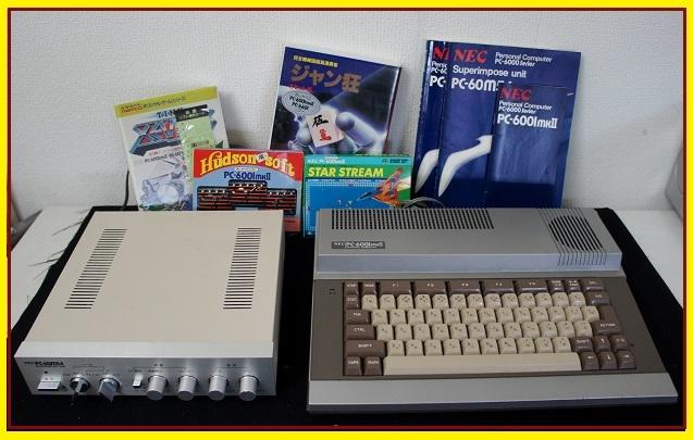 A13◆レトロ!NEC PC-6000Series PC-6001mkⅡ&PC-60m54&カセットソフト4本◆