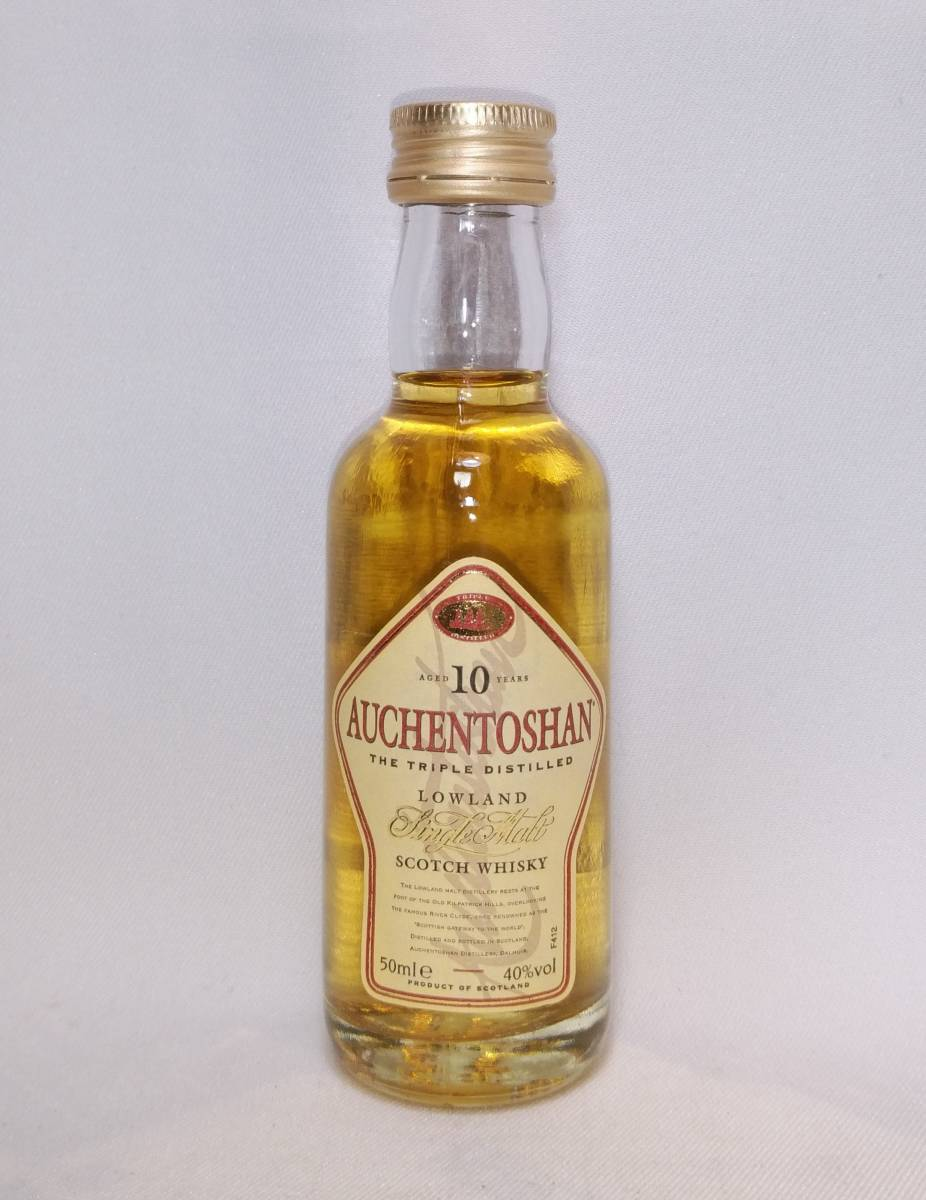 【全国送料無料】AUCHENTOSHAN 10years old LOWLAND Single Malt Scotch Whisky オーヘントッシャン10年 40度 50ml_画像1