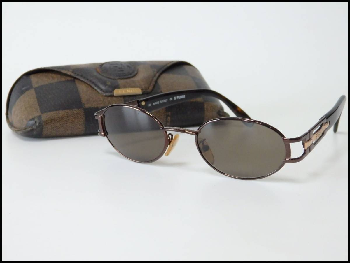 8bcb0948518 genuine article FENDI Fendi sunglasses FS205 CAFE 130 case attaching ...