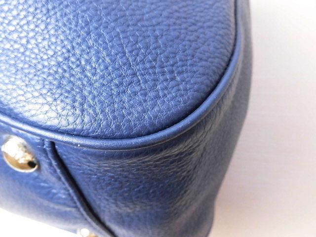 極美品(新品同様)■マイケルコース MICHAELKORS■ハンド バッグ A4可 レザー ネイビー 優秀鞄 ag9253_画像5