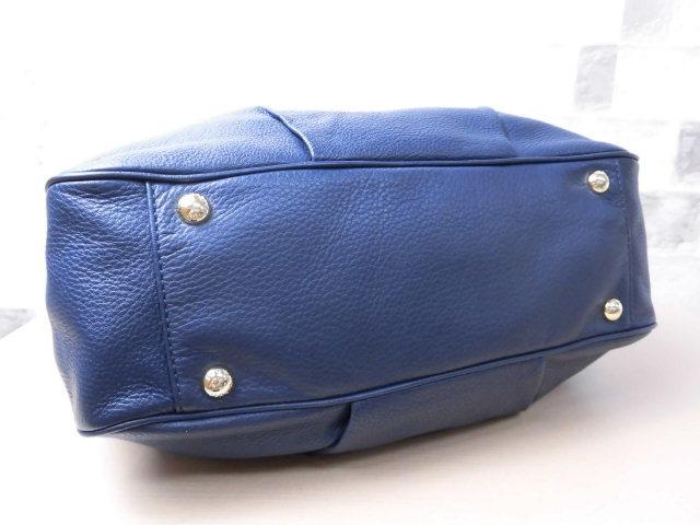 極美品(新品同様)■マイケルコース MICHAELKORS■ハンド バッグ A4可 レザー ネイビー 優秀鞄 ag9253_画像8