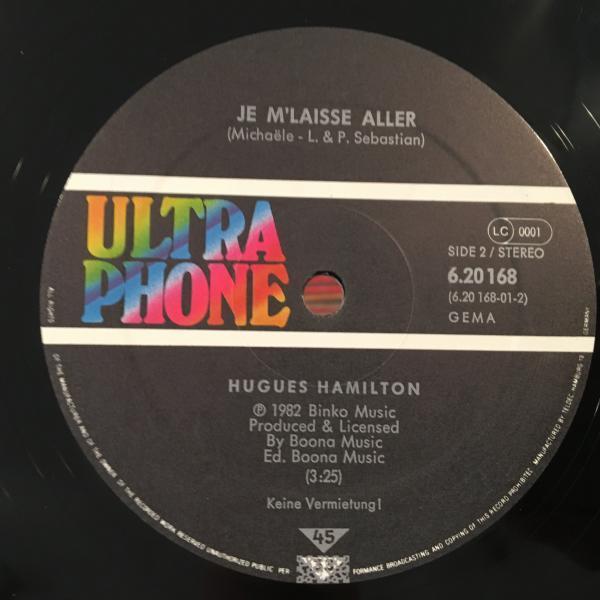 ☆Hugues Hamilton/Je M'laisse Aller☆仏80sブギー!_画像2