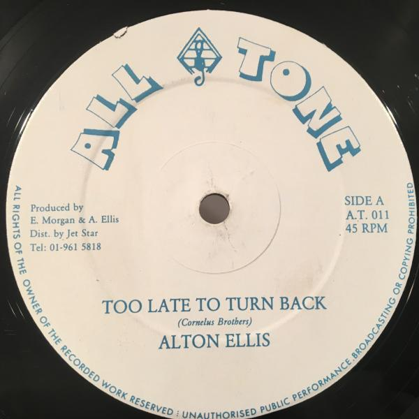 ★Alton Ellis/Too Late To Turn Back★LOVERS ROCK!人気!_画像1