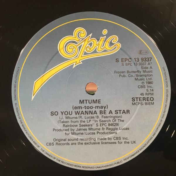 ☆Mtume/So You Wanna Be A Star☆DISCO CLASSIC!RARE 12!_画像1