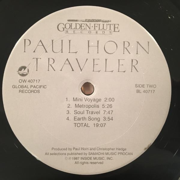 ☆Paul Horn With Christopher Hedge/Traveler☆NEW AGE JAZZ名作!_画像3