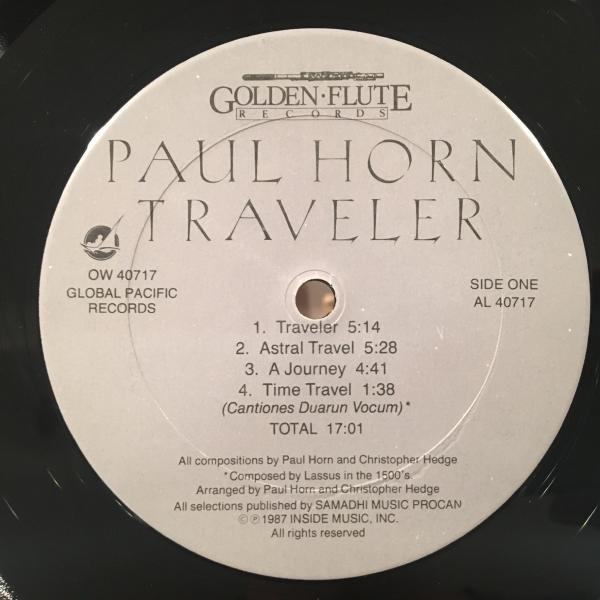 ☆Paul Horn With Christopher Hedge/Traveler☆NEW AGE JAZZ名作!_画像2