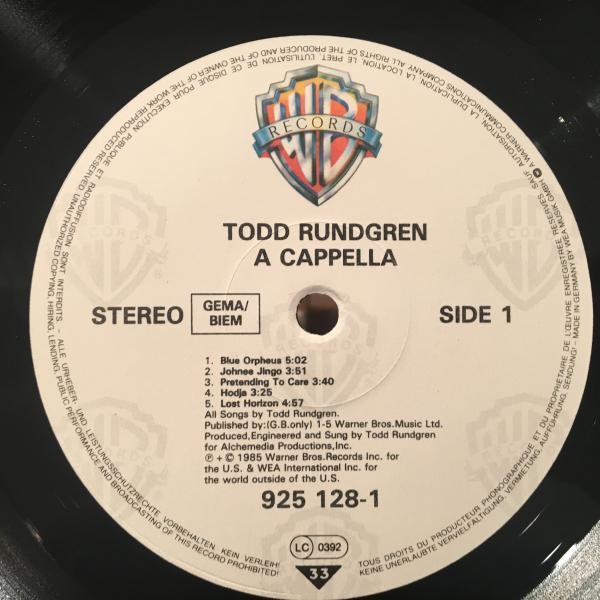 ☆Todd Rundgren/A Cappella☆バレアリックAOR SOUL!_画像2