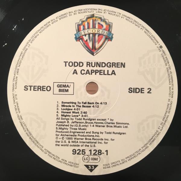 ☆Todd Rundgren/A Cappella☆バレアリックAOR SOUL!_画像3