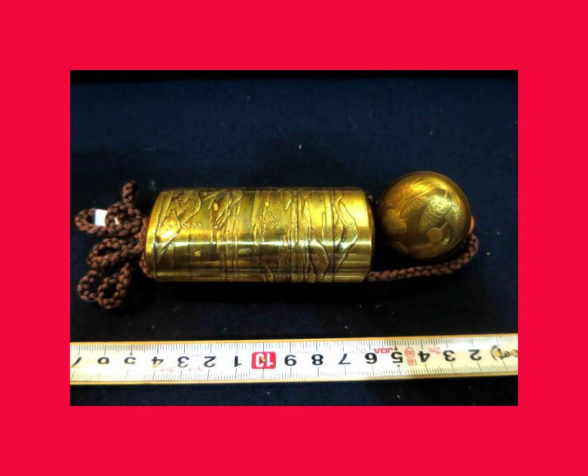 :【古都京都】「金蒔絵印籠B-295」漆器・陶器.蒔絵.印籠 薬籠 金蒔絵 内梨地 〝器〟_最高のお品です。