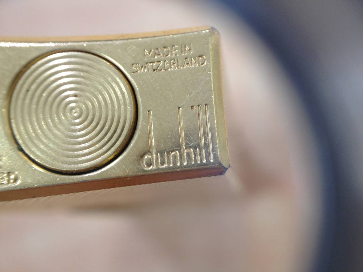 25079-1 dunhill/ダンヒル ガスライター ライター ゴールド色 火花 着火 未確認 ジャンク品_画像7