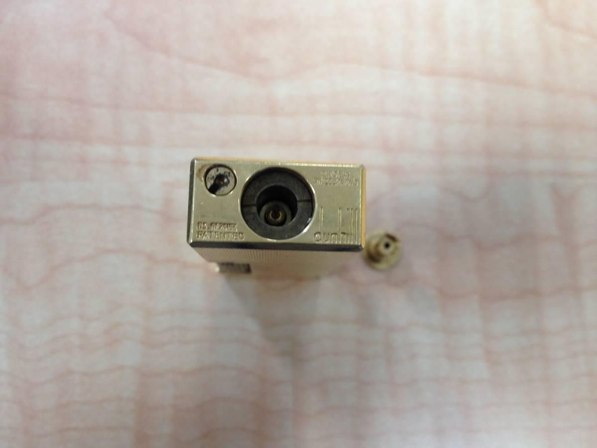 25079-1 dunhill/ダンヒル ガスライター ライター ゴールド色 火花 着火 未確認 ジャンク品_画像9