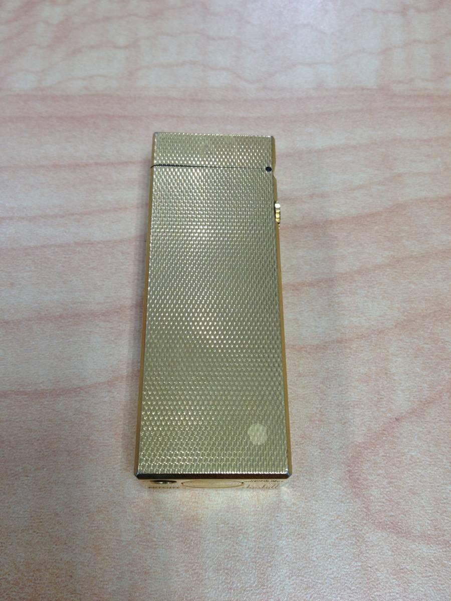 25079-1 dunhill/ダンヒル ガスライター ライター ゴールド色 火花 着火 未確認 ジャンク品_画像2