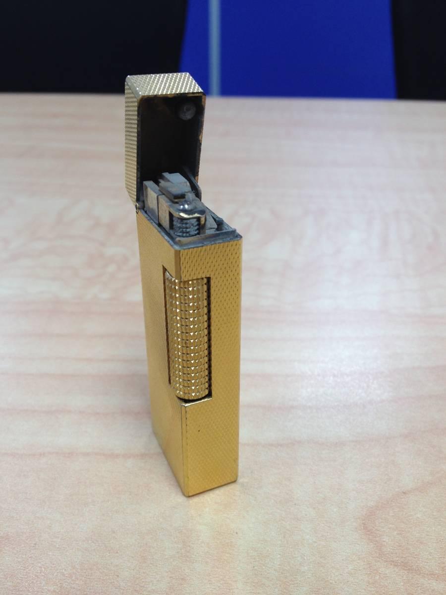 25079-1 dunhill/ダンヒル ガスライター ライター ゴールド色 火花 着火 未確認 ジャンク品_画像5
