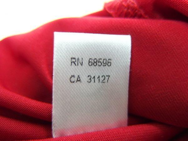 HA025 パーティードレス総花モチーフワンピース 2(US)サイズ ERUKEIファスナーチャーム付き エルケイ赤_画像8