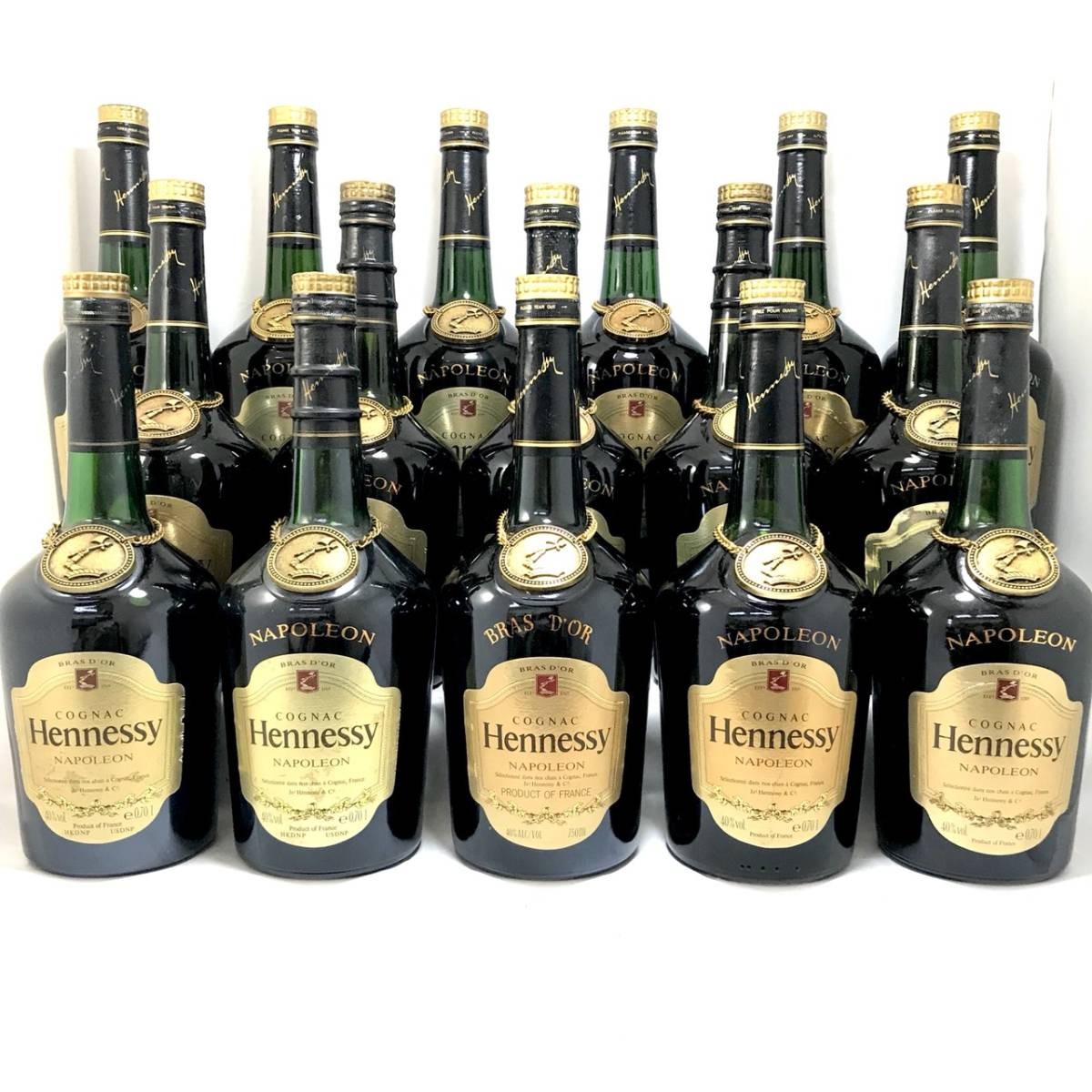 古酒 - Hennessy NAPOLEON BRASD'OR/ヘネシー ナポレオン ブラスドール 16本セット 700ml 40% ブランデー コニャック 未開栓