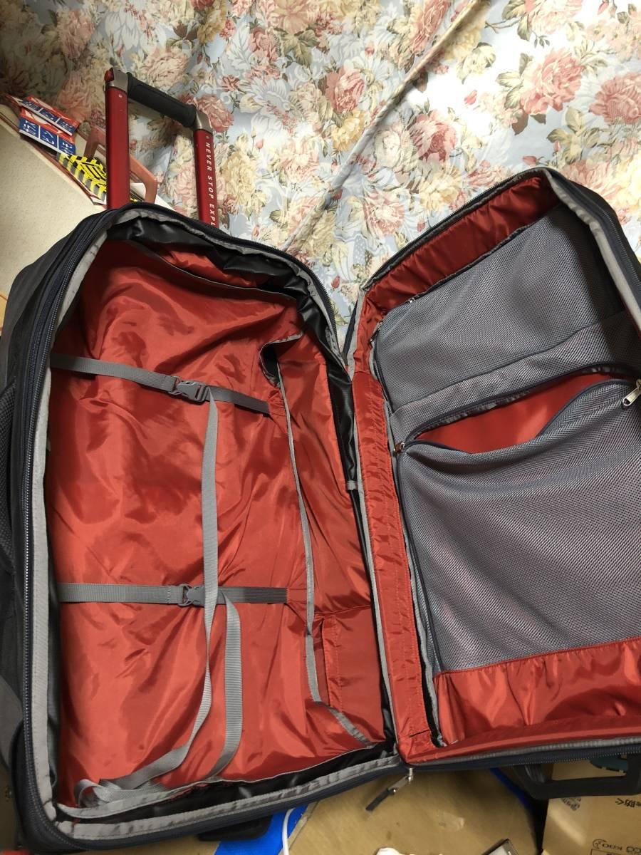 美品 1度使用 ノースフェイス スーツケース キャリーバッグ 旅行 鞄 バッグ sidetrack never stop exploring _画像6