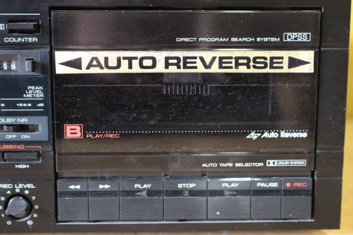 新★ ま-189 カセットデッキ CD-1用 X-CD1 通電OK カセットA・B両方不可 メンテナンス要 高さ12cm 幅34cm 奥行35.5cm 重さ4.5kg_画像4