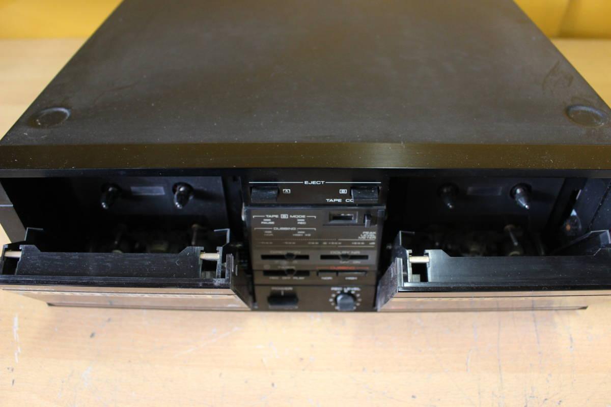 新★ ま-189 カセットデッキ CD-1用 X-CD1 通電OK カセットA・B両方不可 メンテナンス要 高さ12cm 幅34cm 奥行35.5cm 重さ4.5kg_画像5