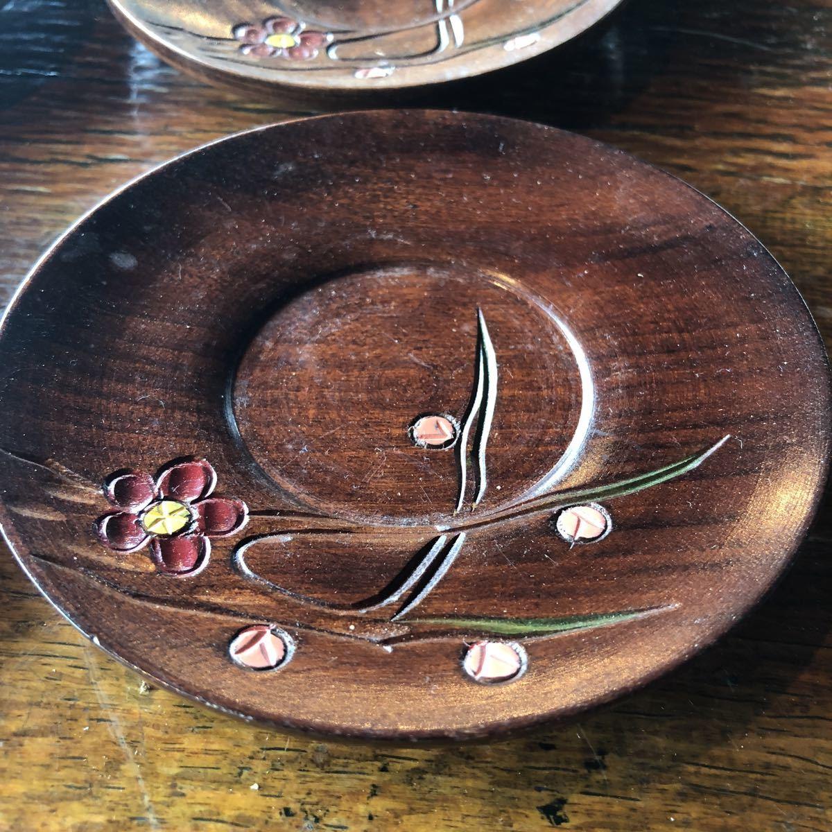 木彫り 茶托_画像2