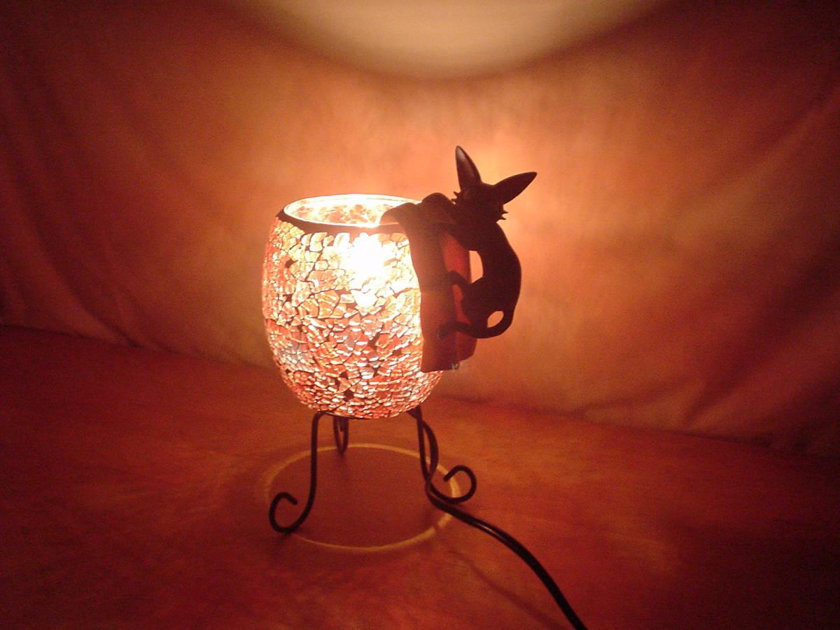 魔女の宅急便 モザイクランプ ランプ ジジ インテリアに_画像3