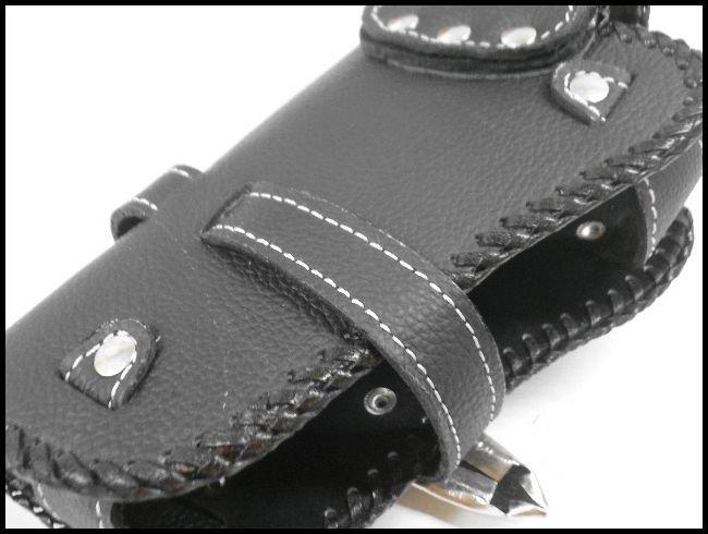 牛革×エイ革スティングレイ ウォレットホルダー メタルコンチョ付/財布ケース_画像3
