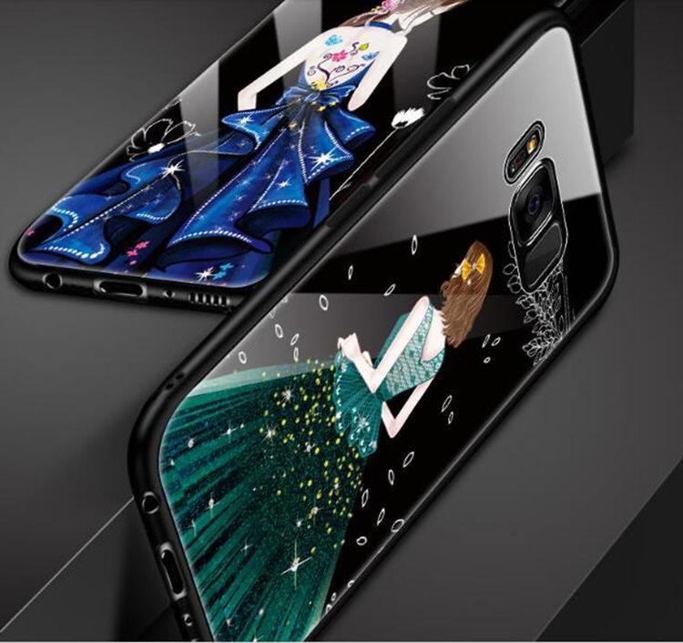 Galaxy S8 Plus ケース ギャラクシー S8 プラスケース SC-03J/SCV35 サンスム スマホケース 背面カバー TPU ガラスケース 女の子 おしゃれ_画像3