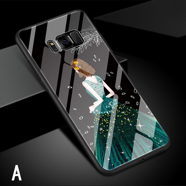 Galaxy S8 Plus ケース ギャラクシー S8 プラスケース SC-03J/SCV35 サンスム スマホケース 背面カバー TPU ガラスケース 女の子 おしゃれ_画像6