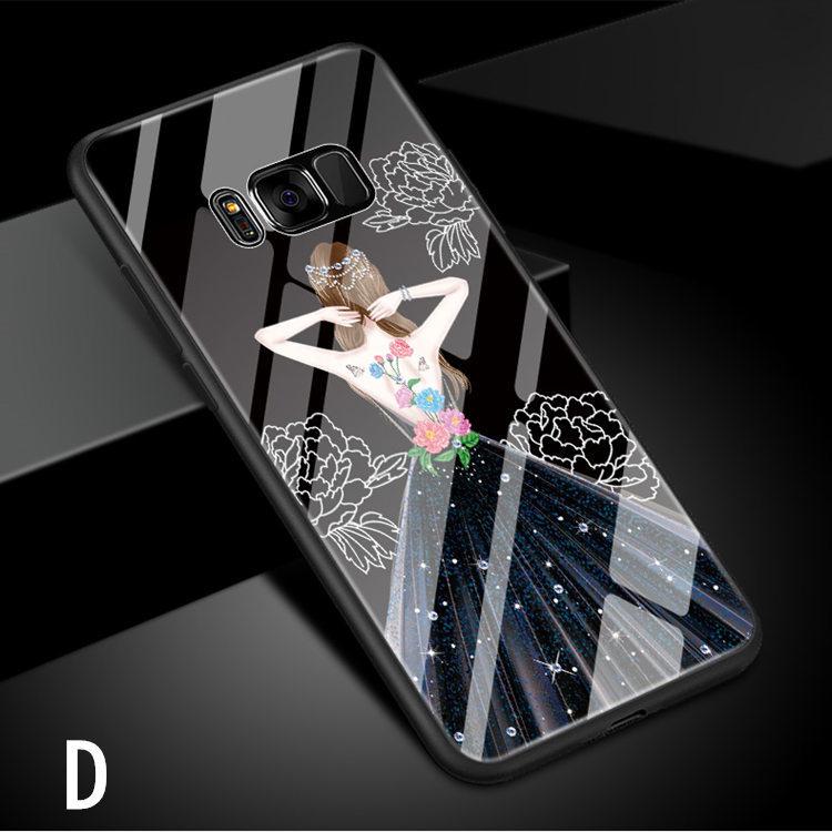Galaxy S8 Plus ケース ギャラクシー S8 プラスケース SC-03J/SCV35 サンスム スマホケース 背面カバー TPU ガラスケース 女の子 おしゃれ_画像9
