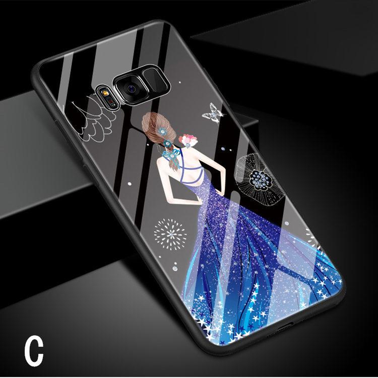 Galaxy S8 Plus ケース ギャラクシー S8 プラスケース SC-03J/SCV35 サンスム スマホケース 背面カバー TPU ガラスケース 女の子 おしゃれ_画像8