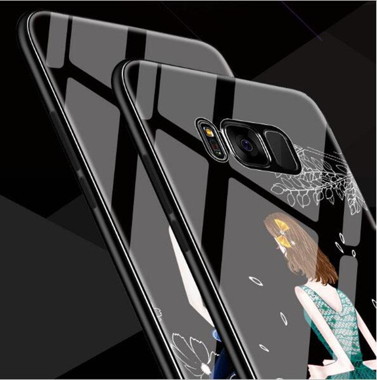 Galaxy S8 Plus ケース ギャラクシー S8 プラスケース SC-03J/SCV35 サンスム スマホケース 背面カバー TPU ガラスケース 女の子 おしゃれ_画像1