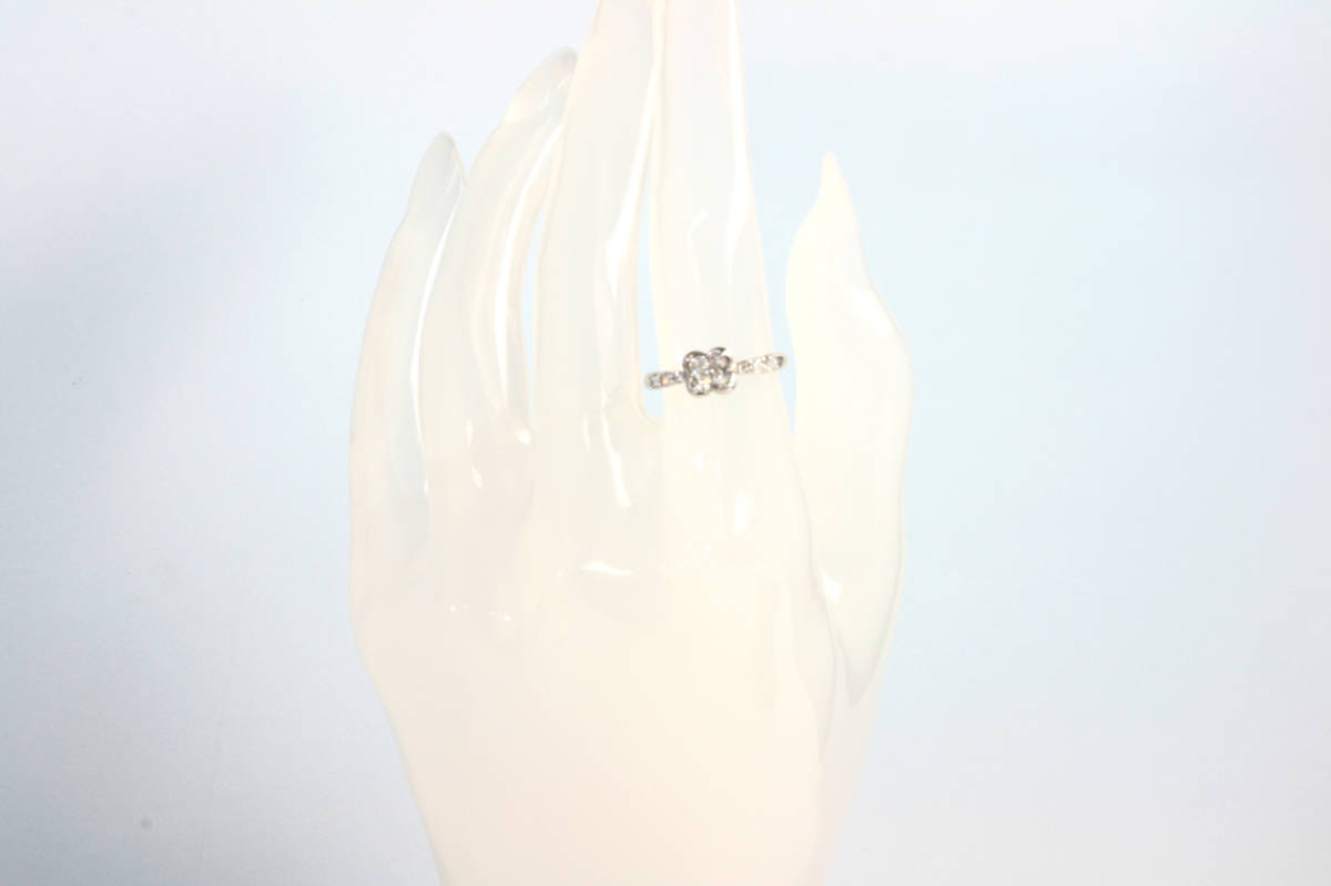 PR260043 ダイヤ リング 0.50ct Pt900 プラチナ フラワー 花 11.5号 上質 0.5ct_画像6