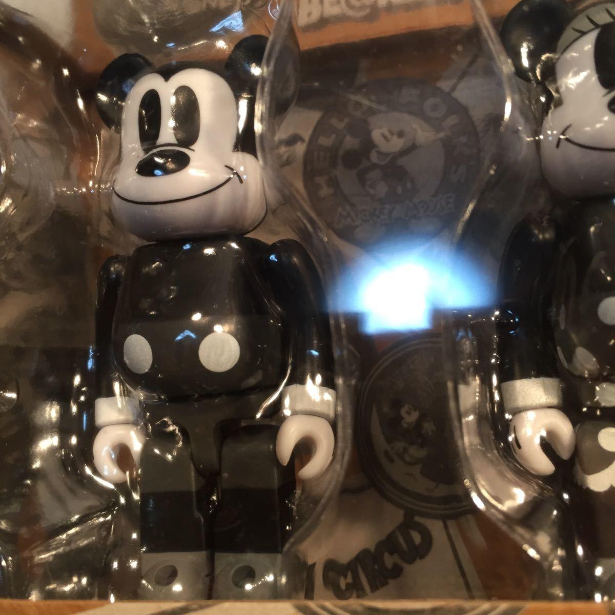 【未開封】ミッキーマウス&ミニーマウス BE@RBRICK(ベアブリック)MICKEY MOUSE & MINNIE MOUSE (BLACK & WHITE ver.)2 PACK【disney】_画像7