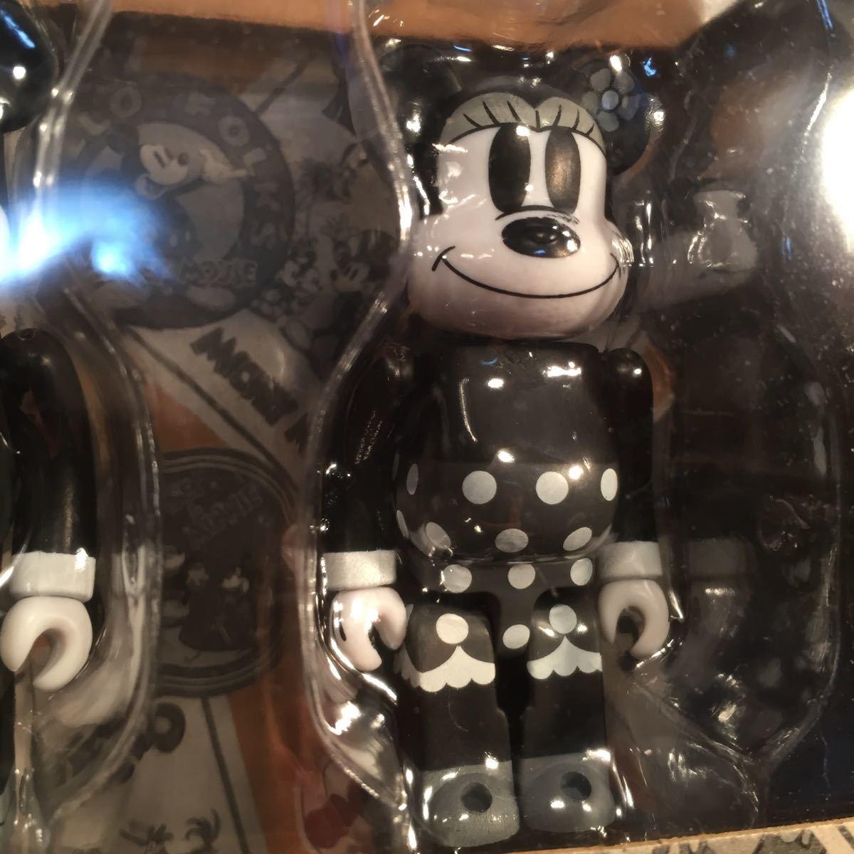 【未開封】ミッキーマウス&ミニーマウス BE@RBRICK(ベアブリック)MICKEY MOUSE & MINNIE MOUSE (BLACK & WHITE ver.)2 PACK【disney】_画像8