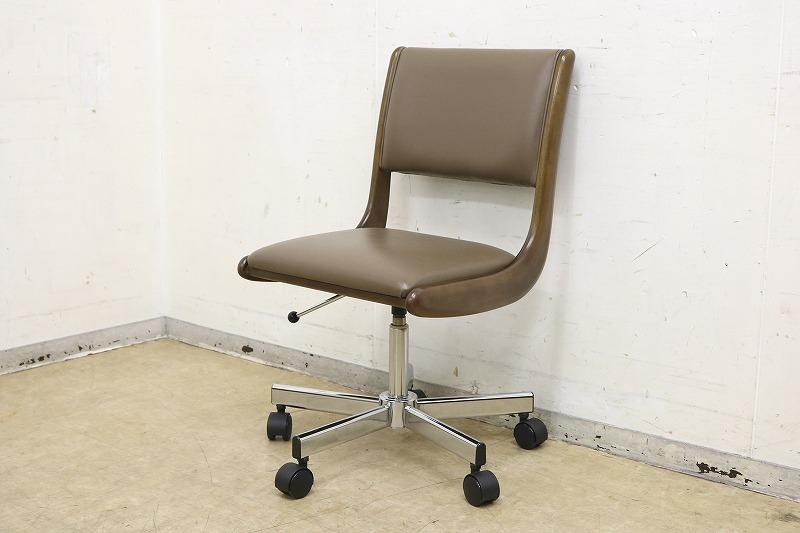 カリモク◆高級デスクチェア◆書斎椅子◆回転式昇降◆キャスター付き