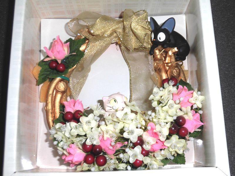 スタジオジブリ 魔女の宅急便 ジジ&リリー リース 陶器製_画像4