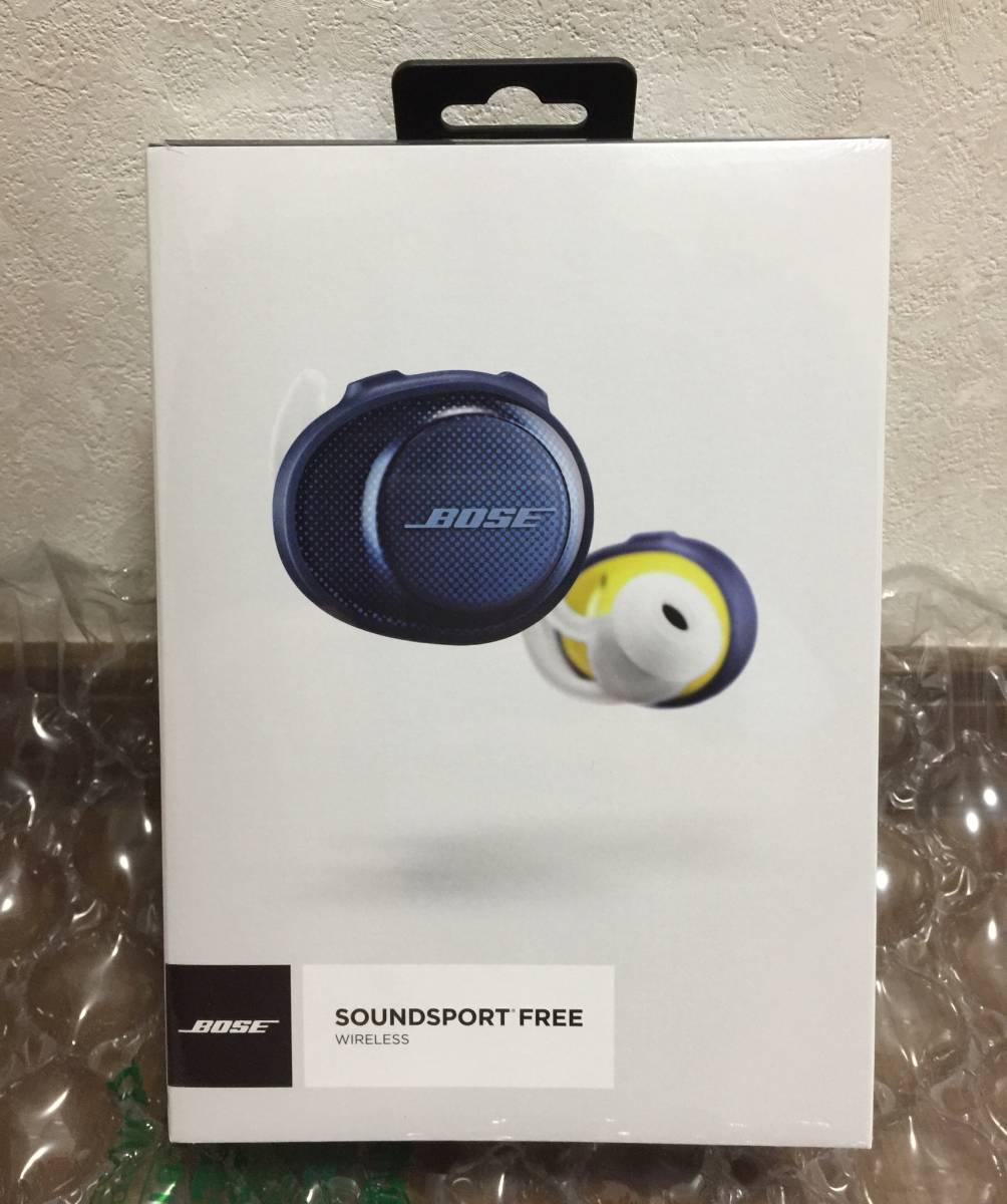 新品 国内正規品 Bose SoundSport Free wireless headphones 完全ワイヤレス Bluetooth イヤホン ミッドナイトブルー/イエローシトロン