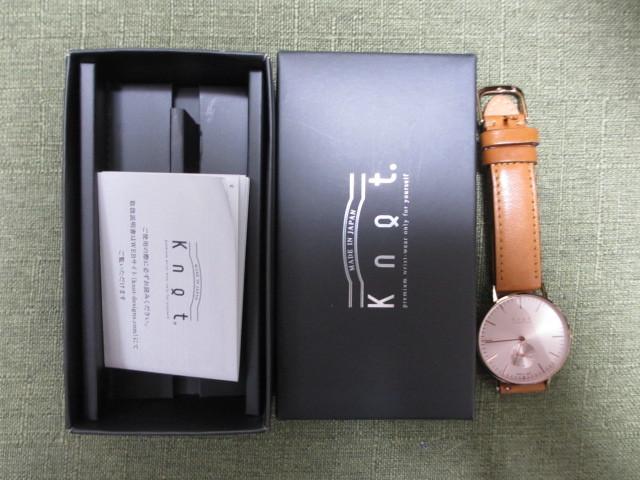 ノット KNOT 腕時計 スモールセコンド ピンクゴールド 箱付き 正規品ベルト付き拍卖
