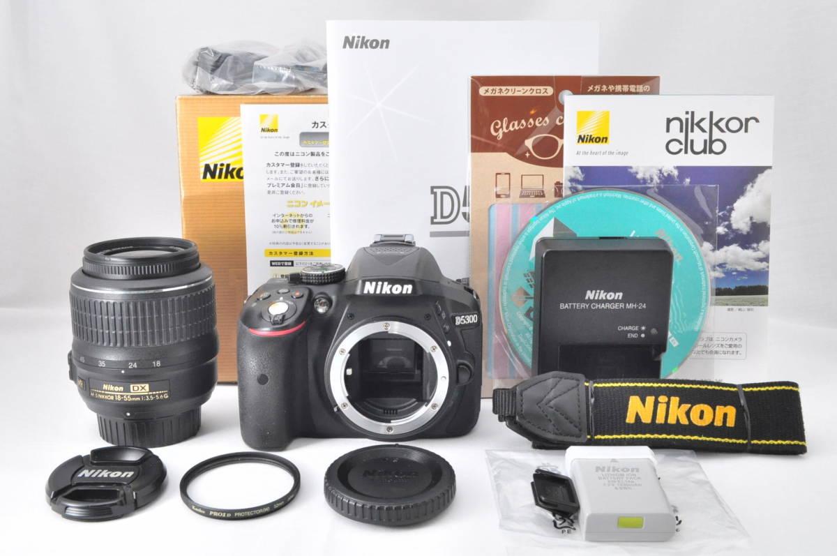 ★極上美品!★ Nikon ニコン D5300 レンズセット (AF-S DX 18-55mm 1:3.5-5.6G VR) 元箱・おまけ付き★付属品は未使用品有り
