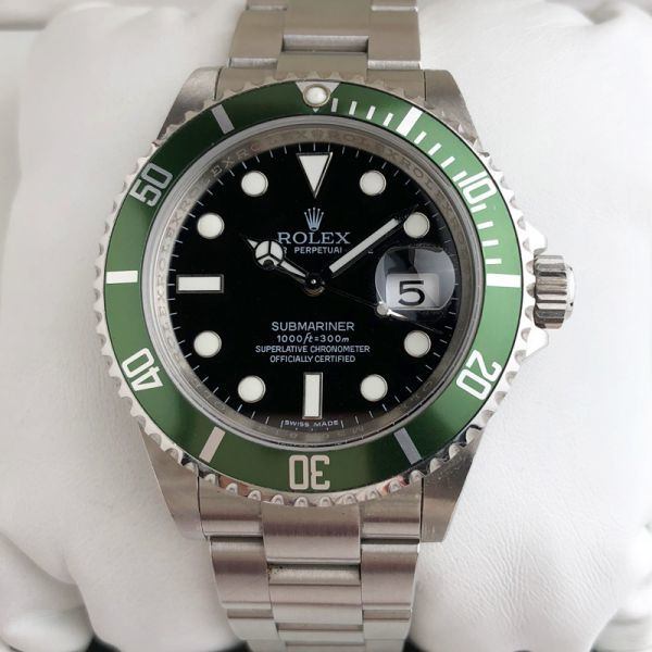 a9e00cd311 ROLEX ロレックス サブマリーナデイト 緑 文字盤 Ref: 16610LV