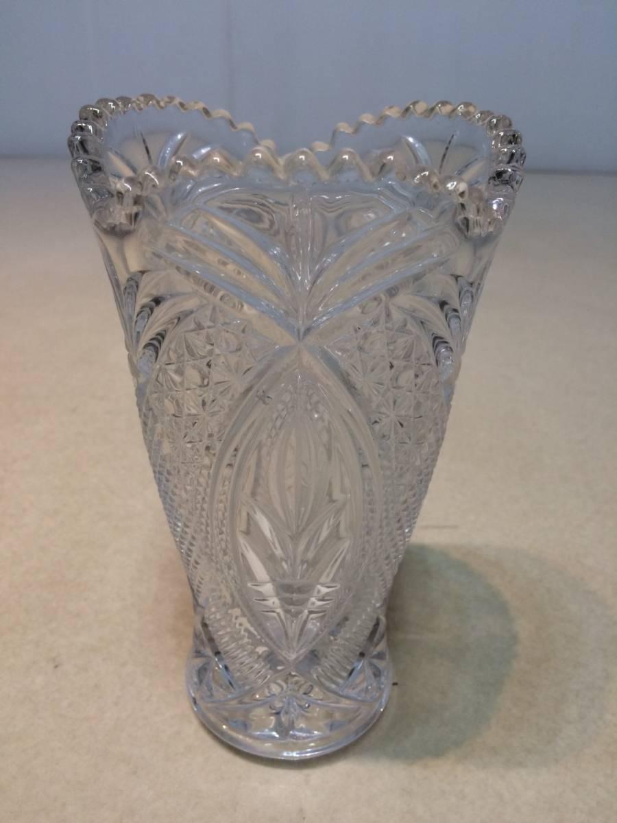 ●未使用 クリスタルガラス 花瓶 花器 フラワーベース 箱 管理:04_画像2