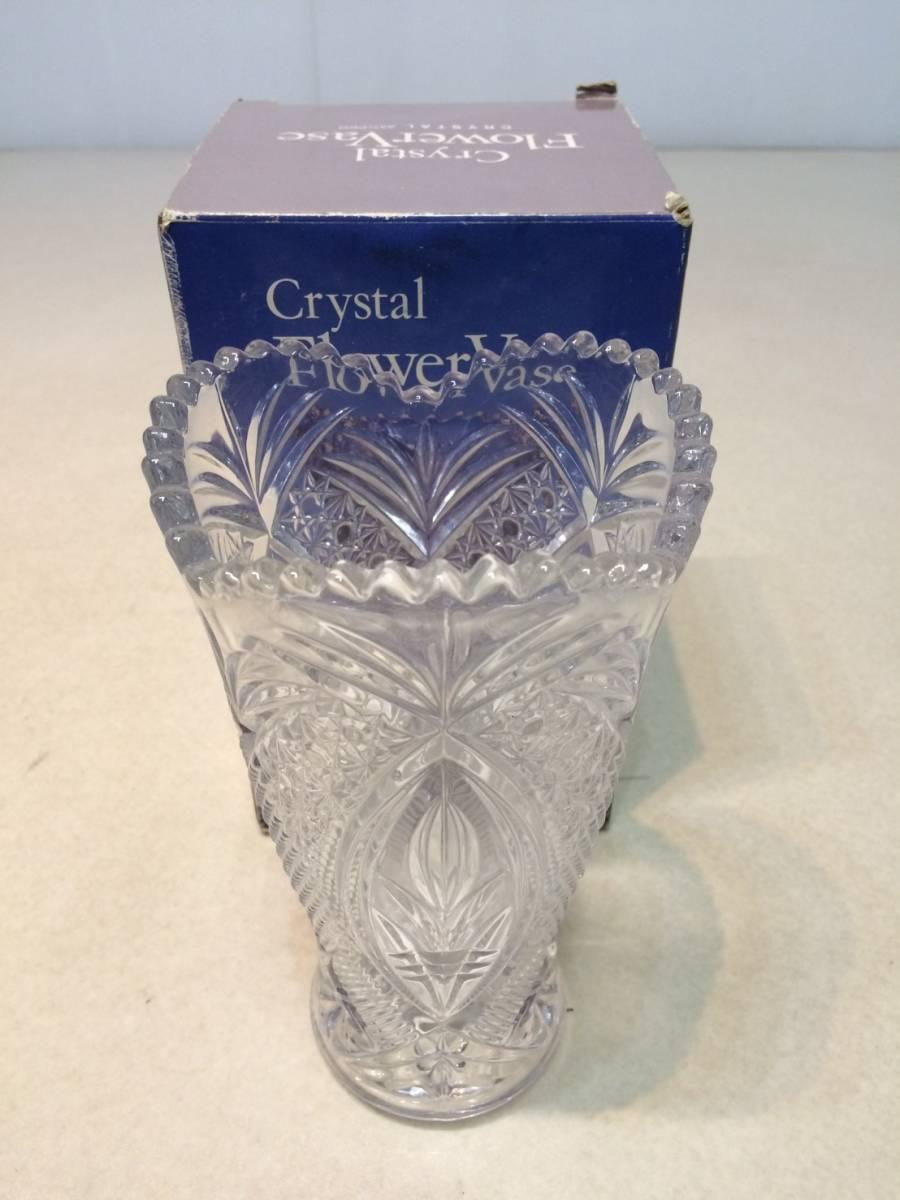 ●未使用 クリスタルガラス 花瓶 花器 フラワーベース 箱 管理:04_画像1